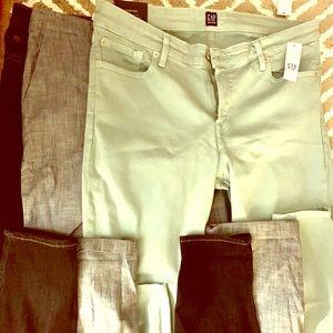 NWT Women GAP Jeans. SZ 14 Slim Fit. Three pairs.